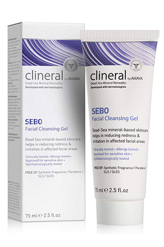 CLINERAL - SEBO Facial Cleansing Gel - Dead Sea Cosmetics Products