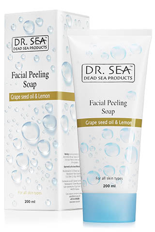 DR. SEA - Facial Peeling Soap with Grape Seed Oil and Lemon Extract