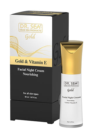 DR. SEA - Nourishing facial night cream with gold and vitamin E