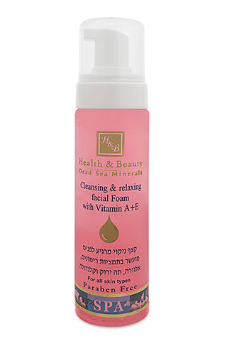 Health & Beauty Cleansing & Relaxing facial foam with Vitamin A+E