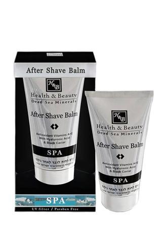 Health & Beauty After Shave Balm with Hyaluronic Acid & Black Caviar – For Men - Dead Sea Cosmetics Products