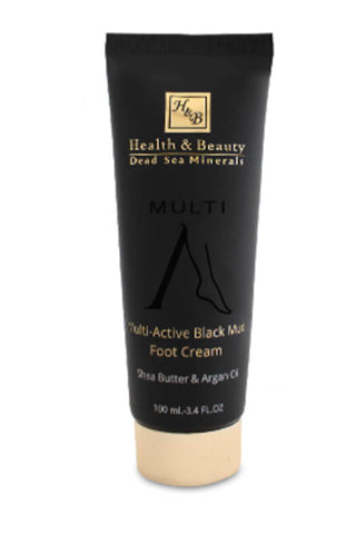 Health and Beauty - Multi-Active Black Mud Foot Cream - Dead Sea Cosmetics Products