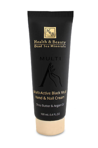 Health and Beauty - Multi-Active Black Mud Hand & Nail Cream - Dead Sea Cosmetics Products