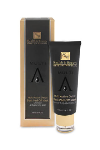 Health and Beauty - Multi-Active Detox Black Peel-Off Mask with Charcoal & Hyaluronic Acid - Dead Sea Cosmetics Products