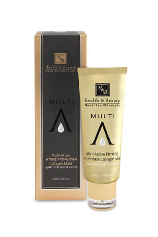 Health and Beauty - Multi Active Firming Anti-Wrinkle Collagen Mask with Hyaluronic Acid & Caviar - Dead Sea Cosmetics Products
