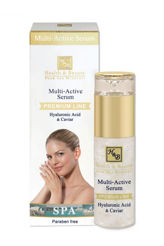 Health & Beauty - Multi-Active Serum with Hyaluronic acid and Caviar - Dead Sea Cosmetics Shop