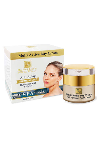 Health & Beauty - Multi Active Day cream With Hyaluronic acid and Caviar extract - Dead Sea Cosmetics Shop