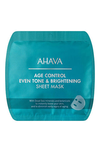 AHAVA -  Age Control Even Tone & Brightening Sheet Mask - Dead Sea Cosmetics Products