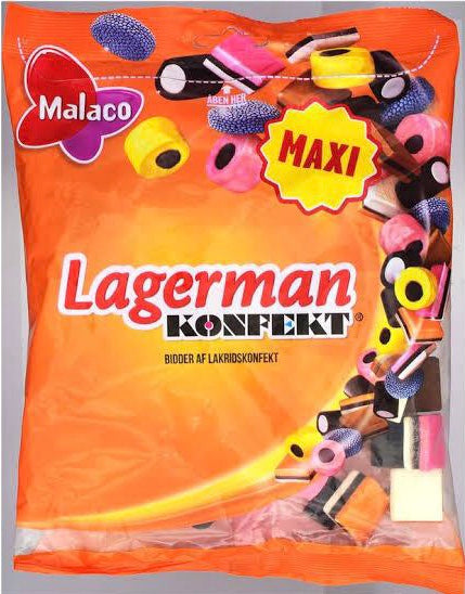 Malaco Lagerman Konfekt Giant Bag (375g) - danishnordic