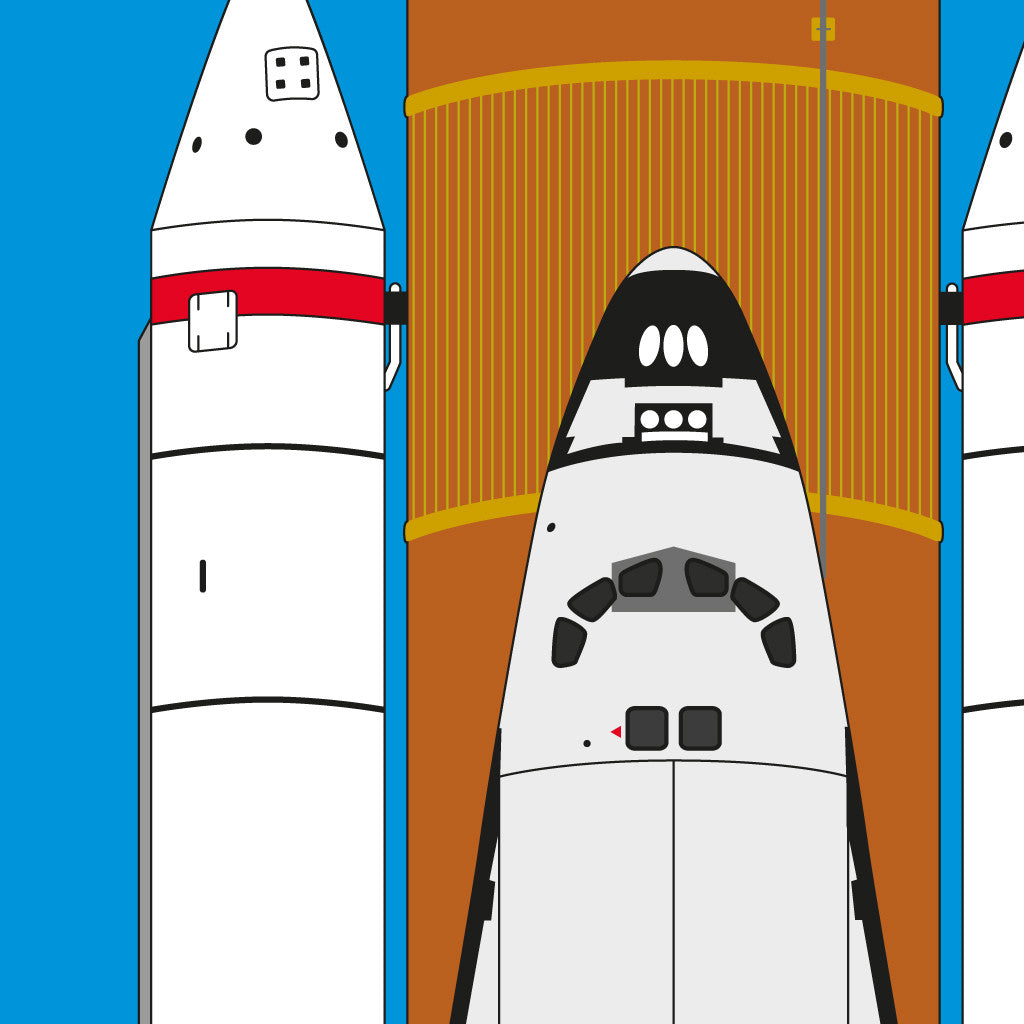 Space Shuttle Print by Atomic Printworks