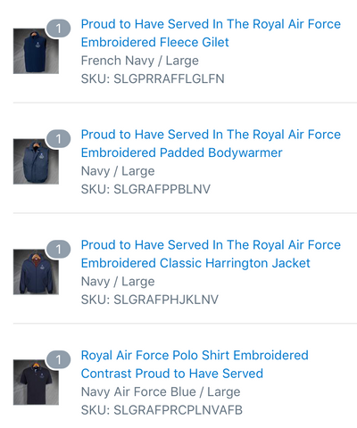 Royal Air Force Clothing