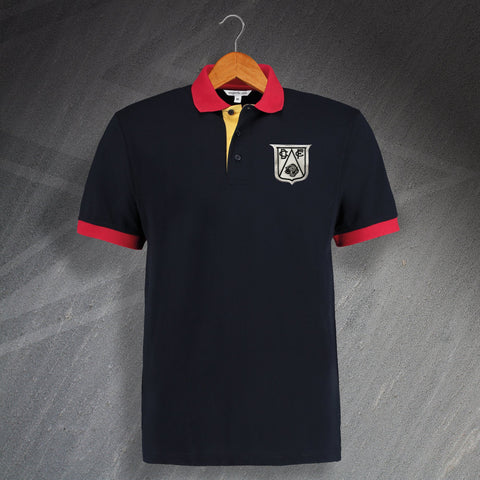 Derby Retro Tricolour Polo Shirt
