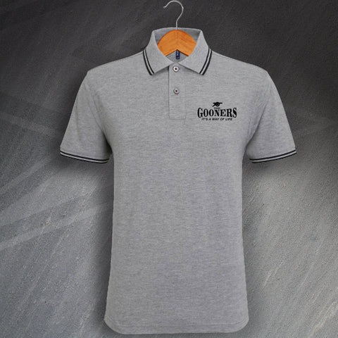 Gooners Tipped Polo Shirt