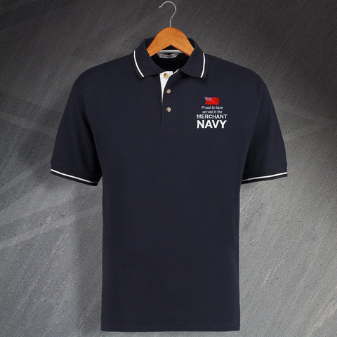 Merchant Navy Contrast Polo Shirt