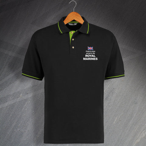 Royal Marines Contrast Polo Shirt