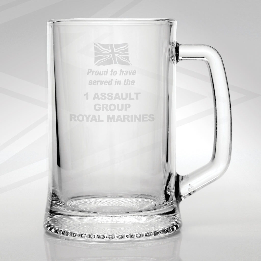 1 Assault Group Royal Marines Glass Tankard