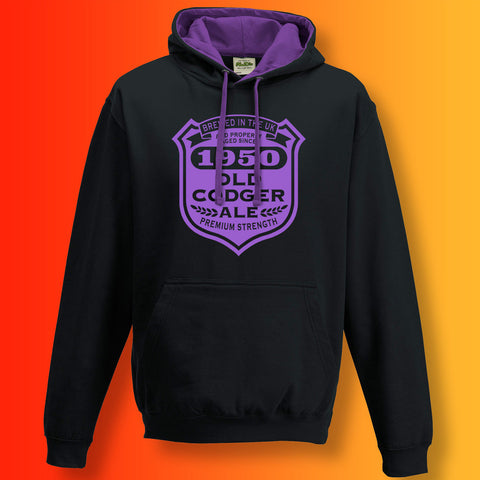 Brewed In The UK 1950 Old Codger Ale Contrast Hoodie