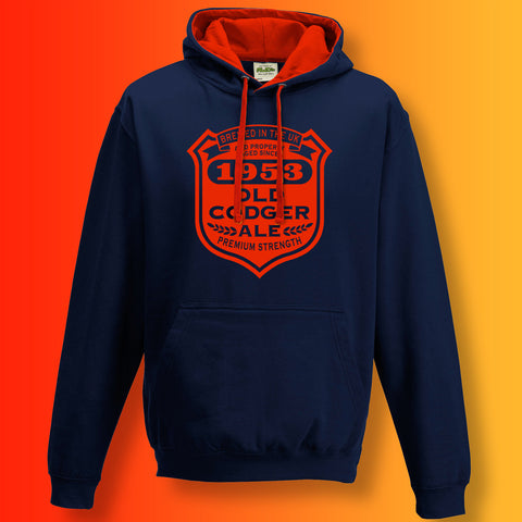Brewed In The UK 1953 Old Codger Ale Contrast Hoodie