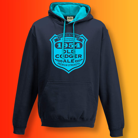 Brewed In The UK 1954 Old Codger Ale Contrast Hoodie