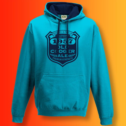 Brewed In The UK 1957 Old Codger Ale Contrast Hoodie