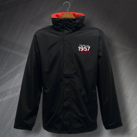 Made in 1957 and The Legend Lives On Embroidered Waterproof Jacket