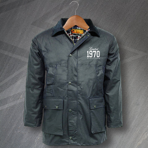 1970 Wax Jacket Embroidered Padded Limited 1970 Edition