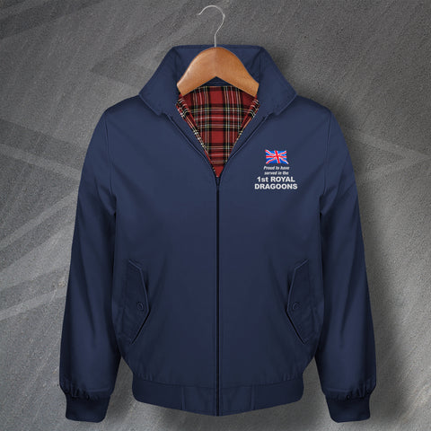 Proud to Have Served in The 1st Royal Dragoons Embroidered Classic Harrington Jacket