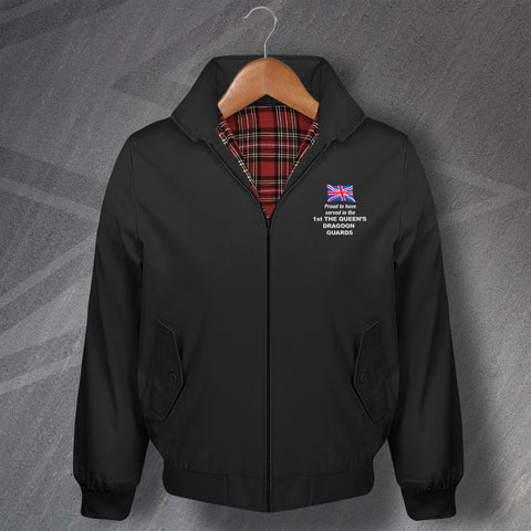 Proud to Have Served in The 1st The Queen's Dragoon Guards Embroidered Classic Harrington Jacket