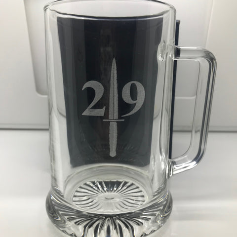 29 Commando Engraved Glass Tankard