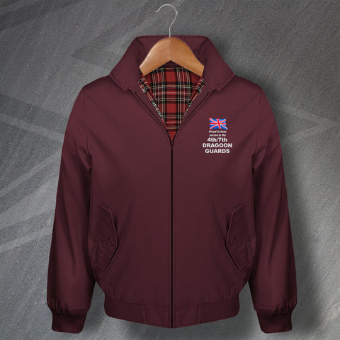 Proud to Have Served in The 4th/7th Royal Dragoon Guards Embroidered Classic Harrington Jacket