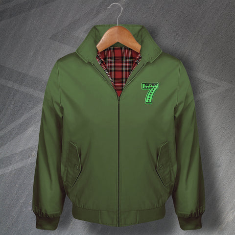 7 Seven in a Row Embroidered Classic Harrington Jacket