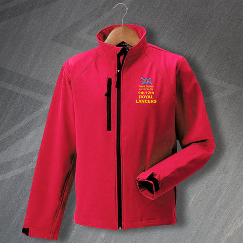 Proud to Have Served In The 9th/12th Royal Lancers Embroidered Softshell Jacket