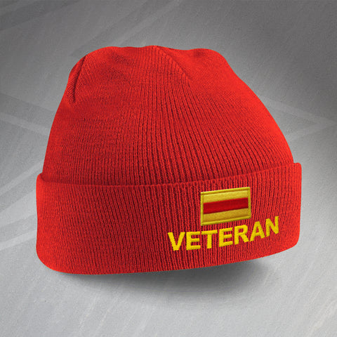 9th/12th Royal Lancers Veteran Embroidered Beanie Hat