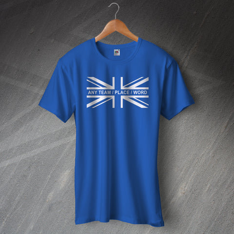 Personalised Union Jack Flag Shirt with Any Team, Place or Word
