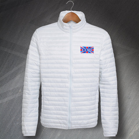 Tottenham Football Jacket Embroidered Fineline Padded COYS Union Jack