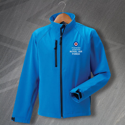 Proud to Have Served In The Royal Air Force Embroidered Softshell Jacket