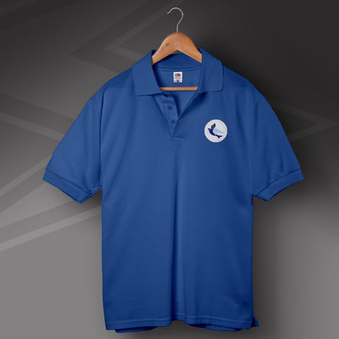Retro Cardiff Polo Shirt with Embroidered Badge