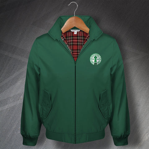 Retro Celtic Classic Harrington Jacket with Embroidered Badge