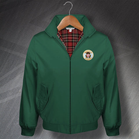 Retro Hibs Classic Harrington Jacket with Embroidered 1980s Badge