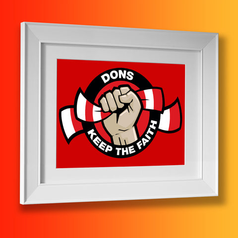 Dons Keep The Faith Framed Print