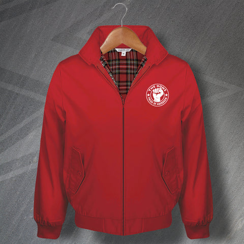 Aberdeen Football Harrington Jacket Embroidered Dons Pride of Aberdeen