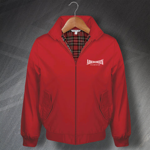 Aberdeen Football Harrington Jacket Embroidered It's a Way of Life