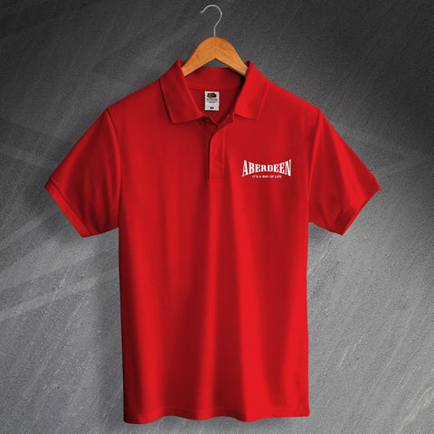 Aberdeen Football Polo Shirt Printed It's a Way of Life