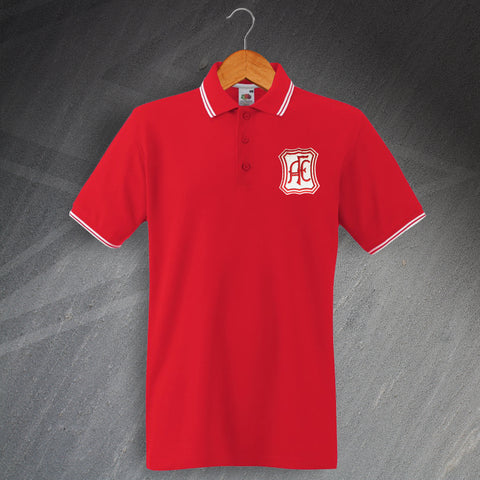 Retro Aberdeen Embroidered Tipped Polo Shirt