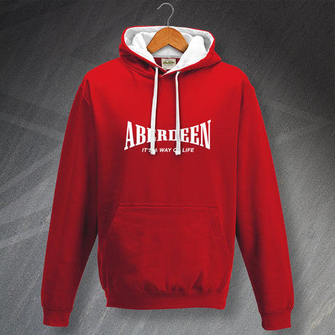 Aberdeen Football Hoodie Contrast It's a Way of Life