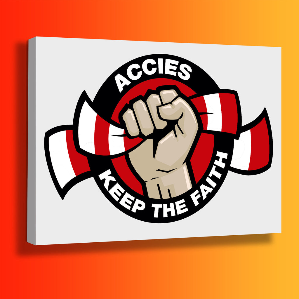 Accies Keep The Faith Canvas Print