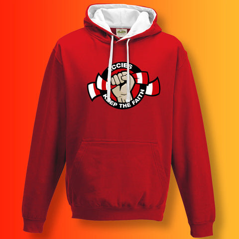 Accies Keep The Faith Contrast Hoodie