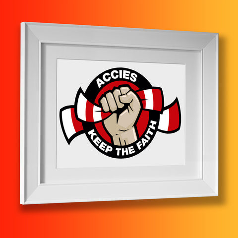 Accies Keep The Faith Framed Print