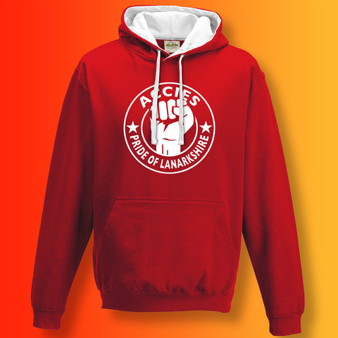 Accies Pride of Lanarkshire Contrast Hoodie