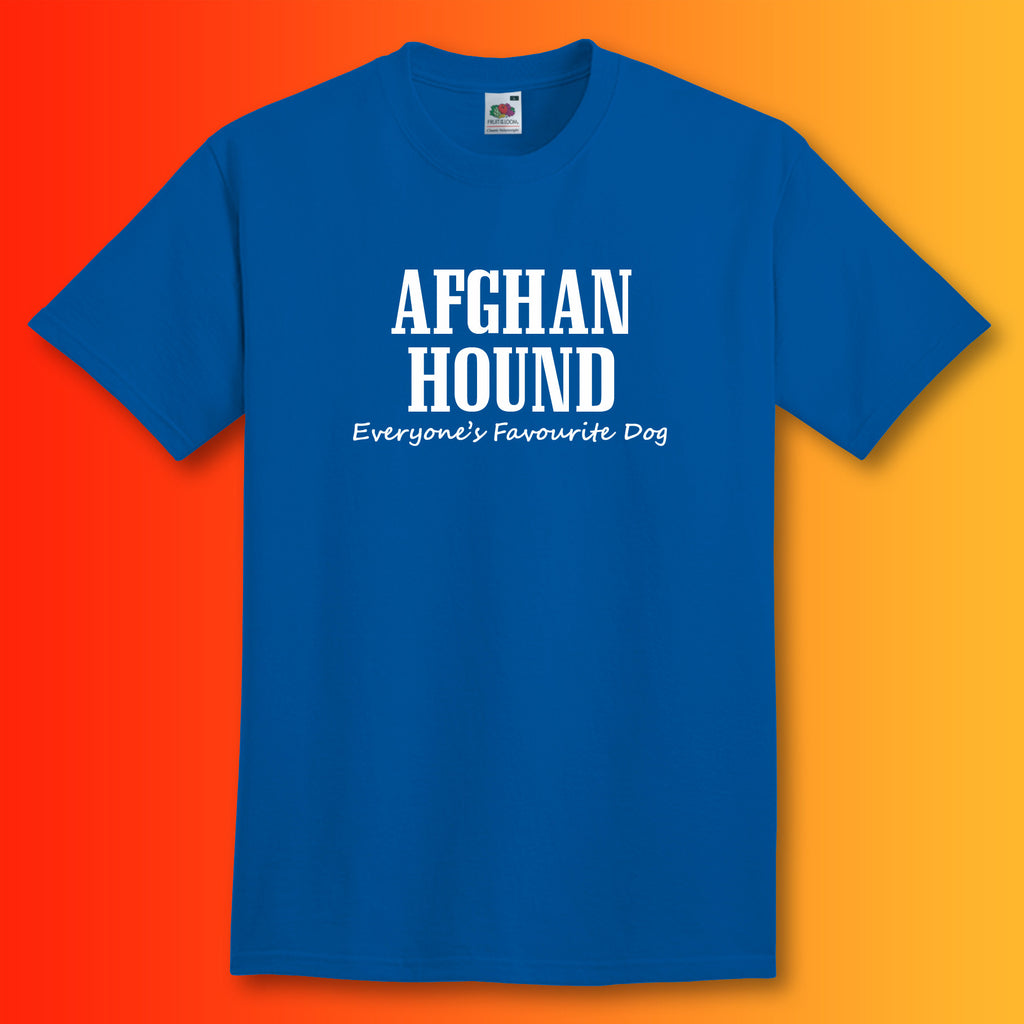 Afghan Hound Everyone's Favourite Dog T-Shirt